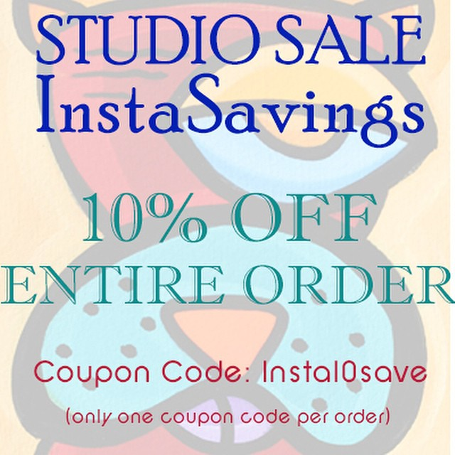 Let the savings begin!! Today is our studio Instagram savings event both in studio and online.  Here is our live coupon special,  there will be assorted coupons throughout the day. And if you tag, follow, comment or like us we will DM you additional promo code you can use online!!! _______________________________________  #sonyapaz #sonyapazgallery #sonyapazstudio #sanjoseart #art #artist #paint #painting #drawing #drawings #paintings #ink #creative #sketch #myart #artwork #illustration #coupon #instasavings #artistsoninstagram #color #couponspecial #savemoney #onlinecoupon