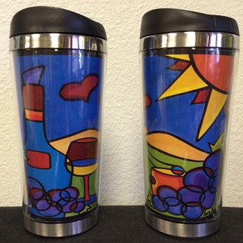 Thermal Travel Mug - Love for Red Wine