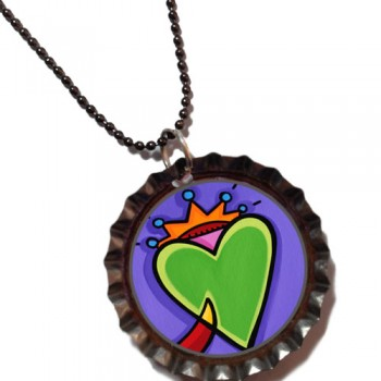 Autumn Love - Bottle Cap Pendant