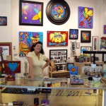 Sonya Paz in her gallery in California