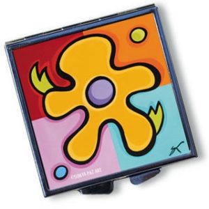 Pop Art Pill Box - Mod Floral Spicy