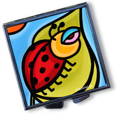 Pop Art Pill Box - Lady Bug Love