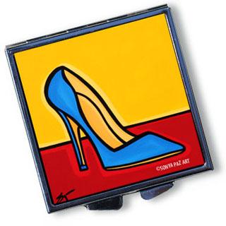 Pop Art Pill Box - Blue Stiletto