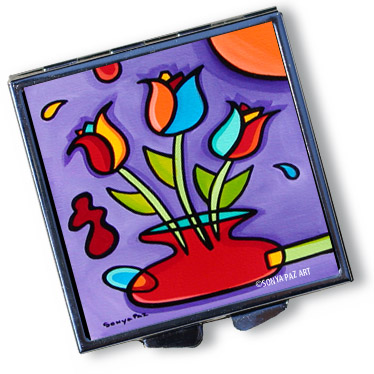 Pop Art Pill Box - Tulip Fanciful
