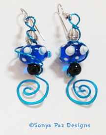 Blueberry Swirl Earrings