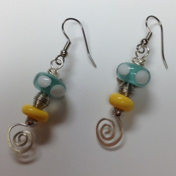 Aquatic Sunshine Earrings