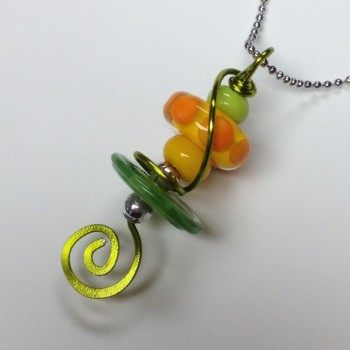 Lime Eclipse Pendant