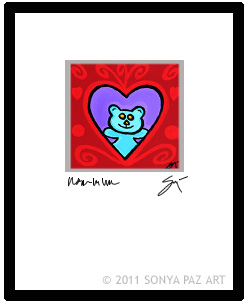 Robby Bear - Matted Print