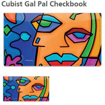 Sonya Paz - Cubist Checkbook Cover!