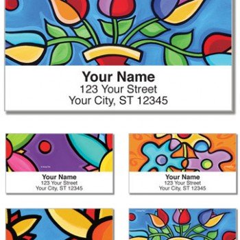 Sonya Paz - The Florals Labels (Set of 4 designs)