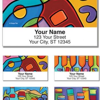 Sonya Paz - Divine Wine Labels (Set of 4 designs)
