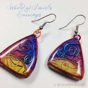 World of Swirls Earrings