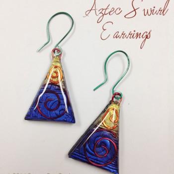 Aztec Swirl Earrings