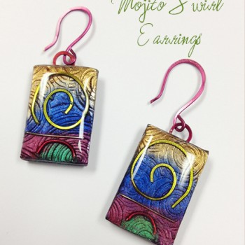 Mojito Swirl - Earrings