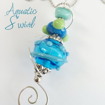 Pendant - Aquatic Swirls