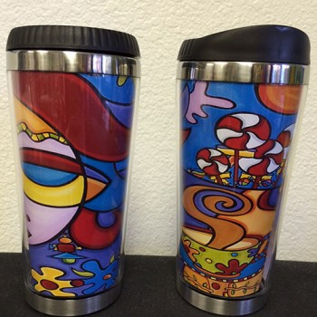 Thermal Travel Mug - Lollipops and Lattes
