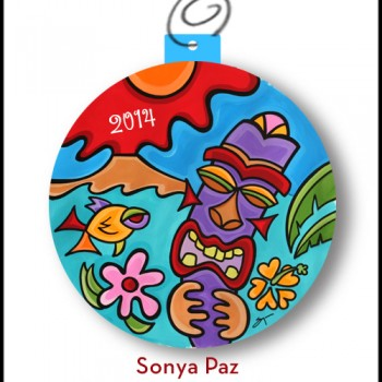 2014 Tropical Tiki Holiday Ornament
