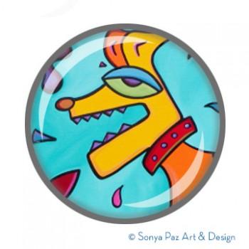 Barky Bark- SnapArt Button
