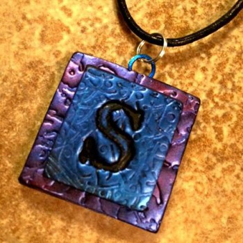 Letter Single Monogram Pendant