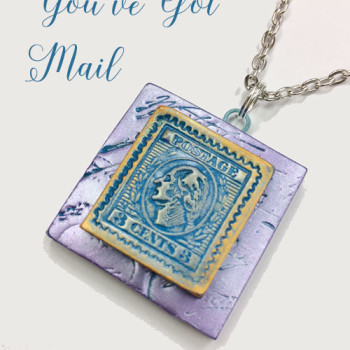 You've Got Mail Pendant (Blue/Lavendar)