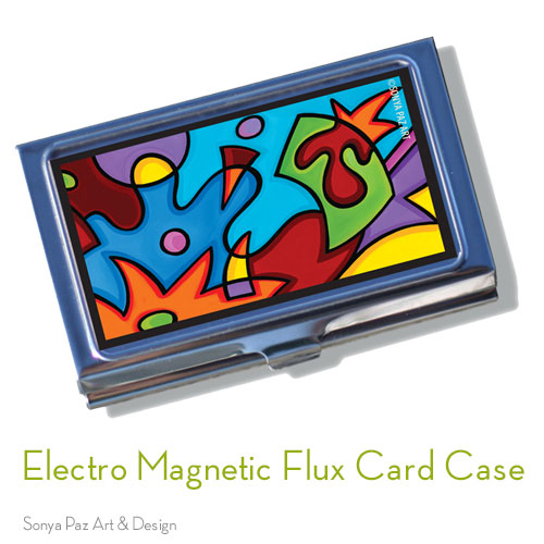 Electro Magnetic Flux Business Card Case