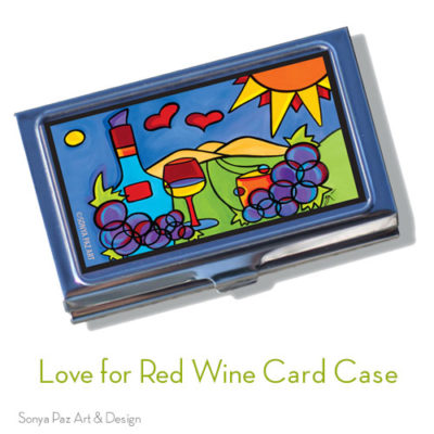 Love for Red Wine Business Card Case