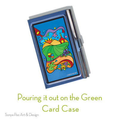 Pouring it out on the Green Business Card Case