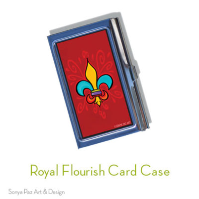 Royal Flourish Business Card Case