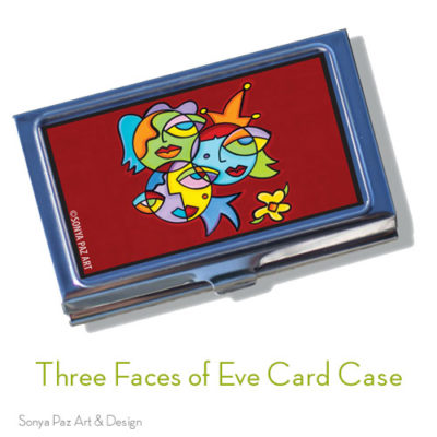 Three Faces of Eve Business Card Case
