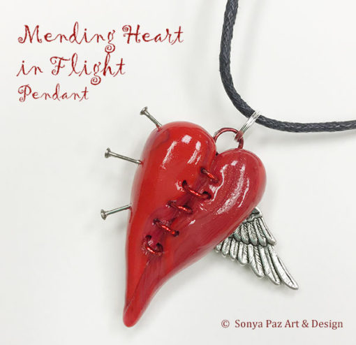 Pendant - Mending Heart in Flight 2